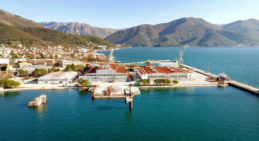 Bijela shipyard Montenegro superyacht refit yard under Damen and Porto Montenegro