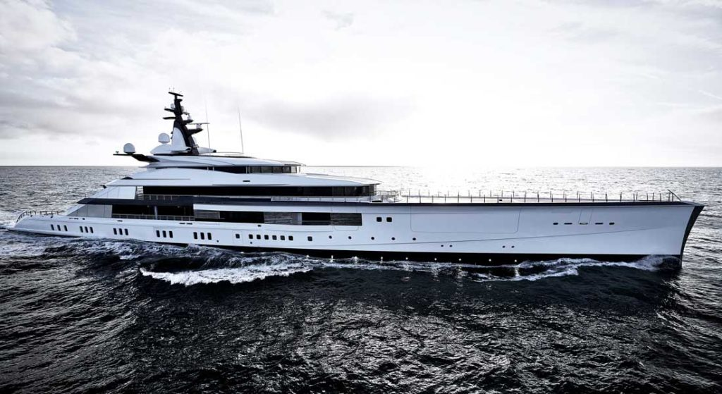 Oceanco Bravo Eugenia largest megayacht deliveries superyachts belonging to NFL team owners