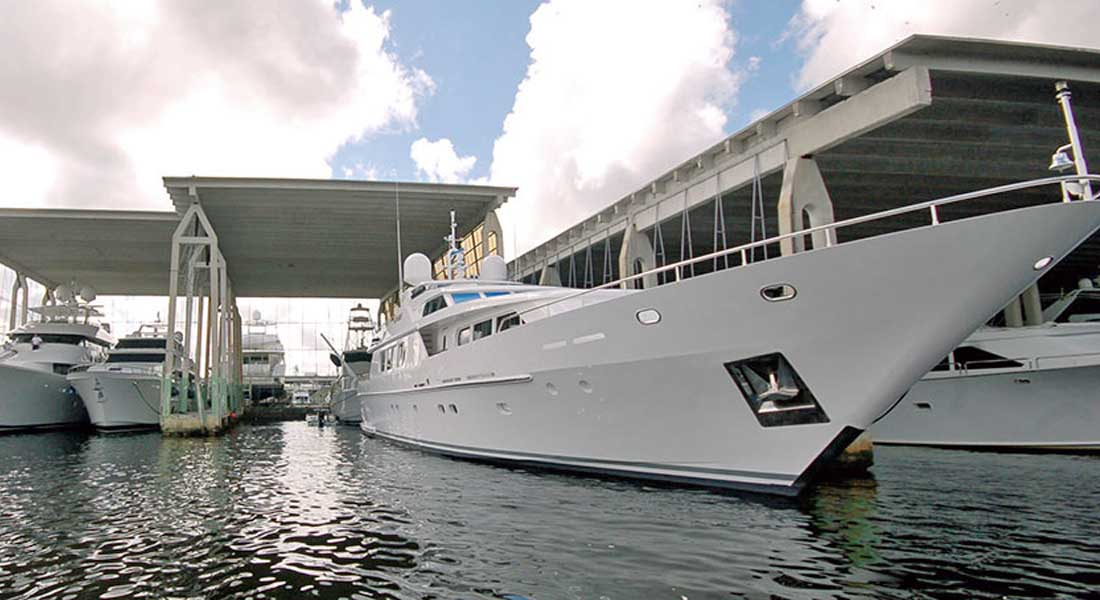 Bradford Marine megayacht repair facility; its among the oldest American shipyards