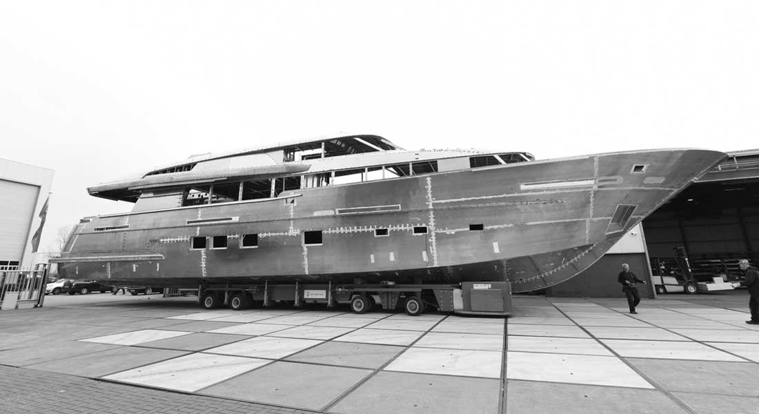 Jangada 2 megayacht Van der Valk Shipyard