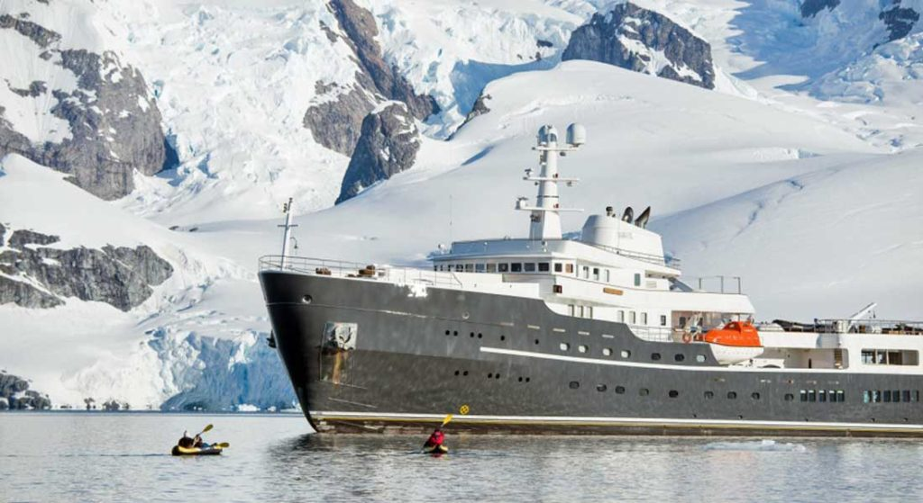 megayacht Legend EYOS Expeditions Greenland