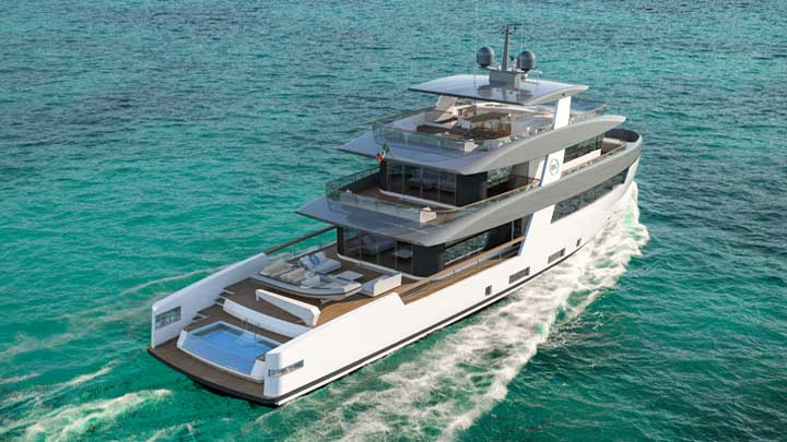 Rosetti Superyachts 35M Supply Vessel megaycht Ceccarelli design