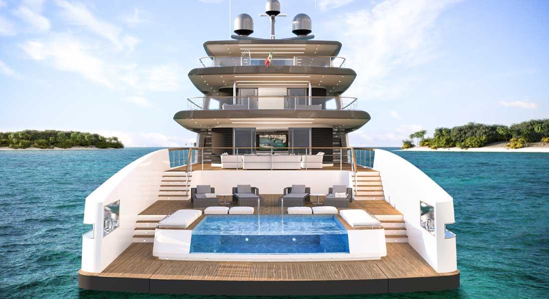Rosetti Superyachts 50M Supply Vessel megaycht Ceccarelli design