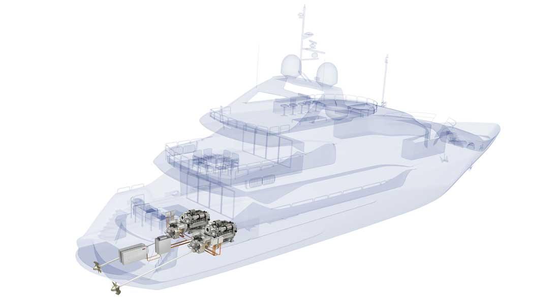 Sunseeker megayacht model MTU hybrid propulsion