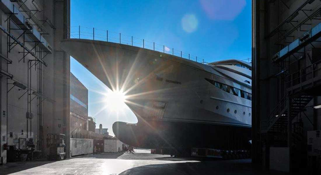 CRN 135 megayacht launch