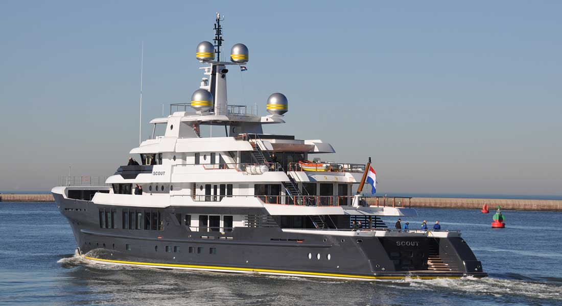 Hakvoort's Scout Seen on Sea Trials