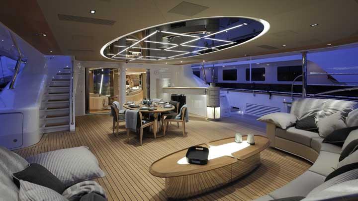 Perini Navi superyacht Seven lighting design Videoworks of Americas