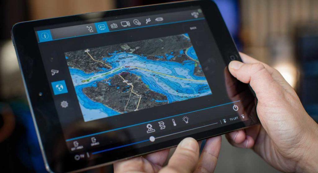 Videoworks of Americas megayacht services iPad display