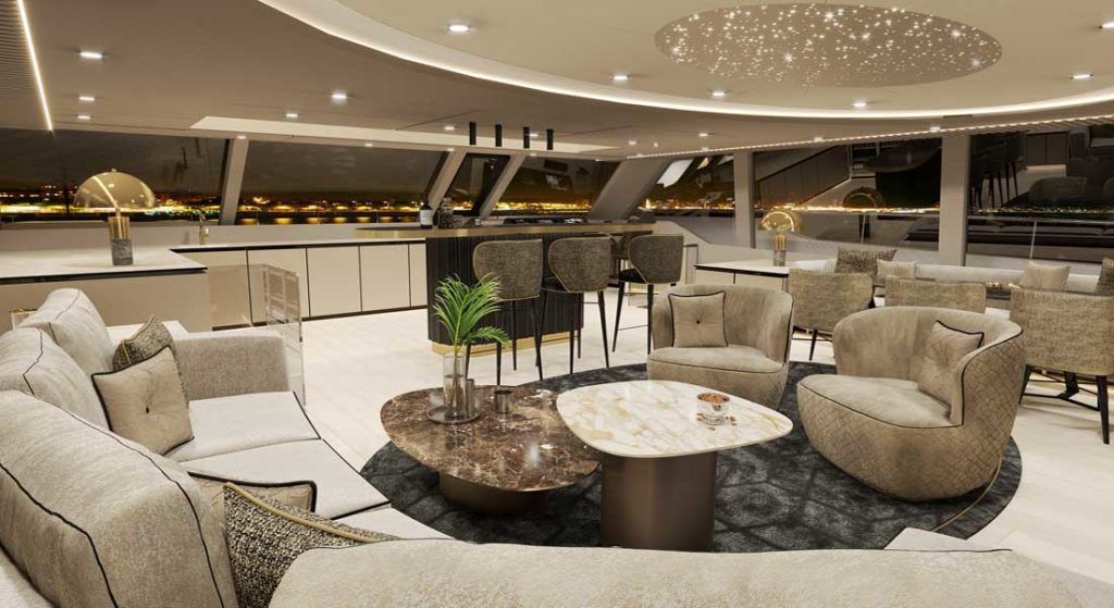 design suggestion for the 80 Sunreef Power megayacht catamaran