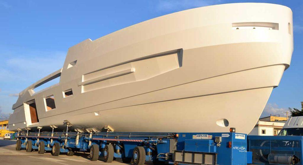 Arcadia Sherpa XL megayacht hull number one