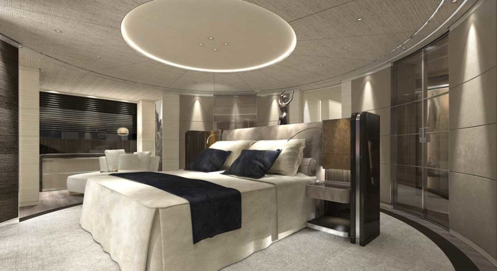 Baglietto Hull 10225 megayacht master suite