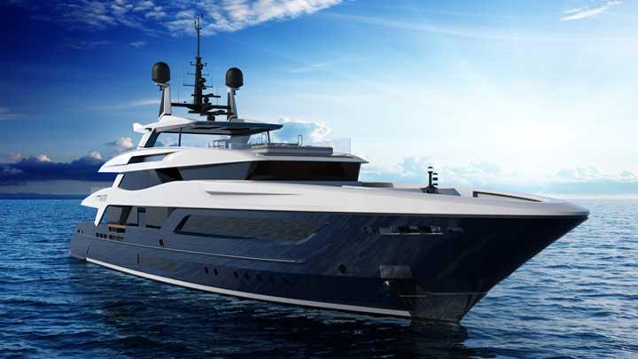 Baglietto Hull 10225 megayacht in profile