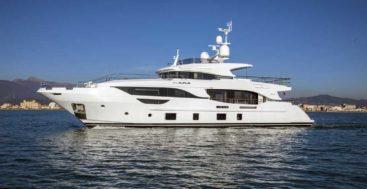 Benetti Delfino 95 megayacht hull number four Eurus in the water