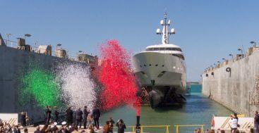 the launch of Benetti FB275 megayacht giga yacht