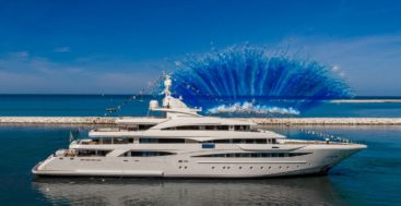 the launch of the megayacht CRN 135 measuring 79 meters