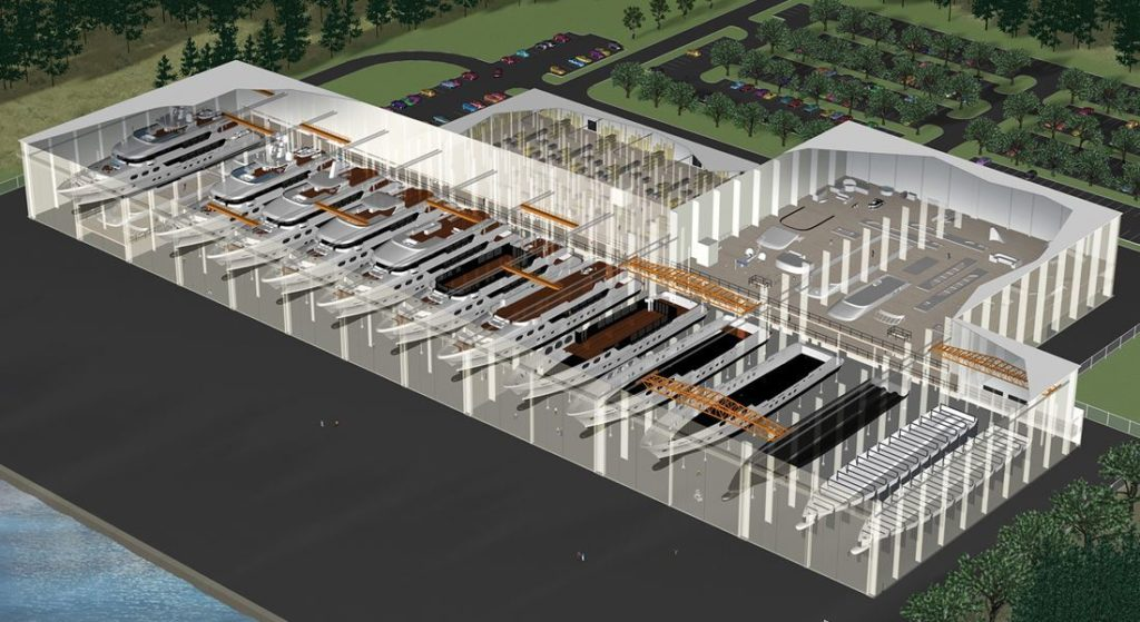 Christensen Shipyards facility in Tennessee artists' rendering