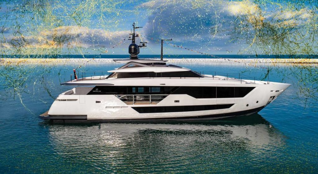 the launch of the new megayacht model Custom Line 106