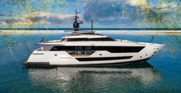 the launch of the new megayacht model Custom Line 106