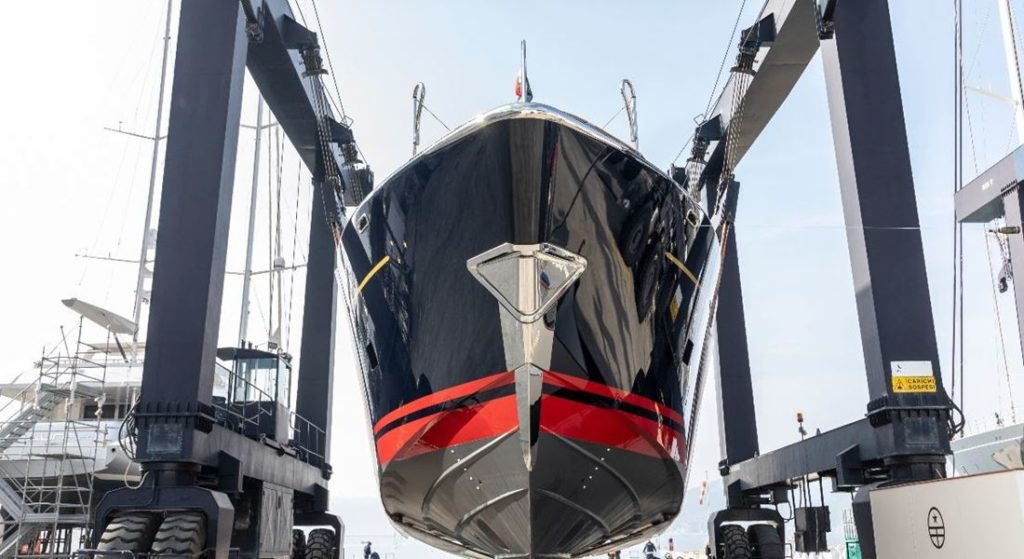 Perini Navi Eco-tender superyacht tender being lowered into the water