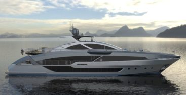 Phoenix 130 megayacht artist depiction of profile