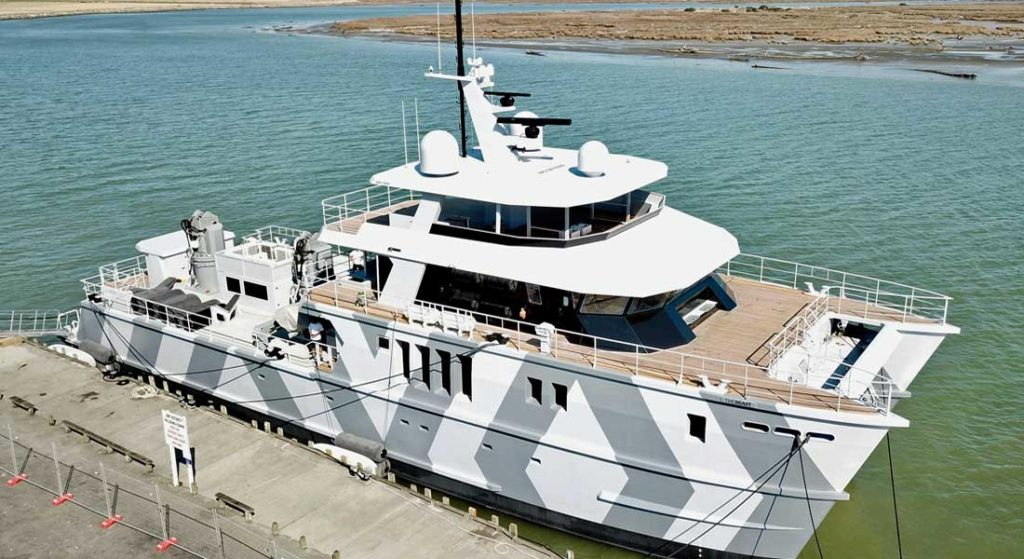 Profab Engineering's superyacht catamaran The Beast on launch day