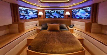 Mary P megayacht VIP stateroom