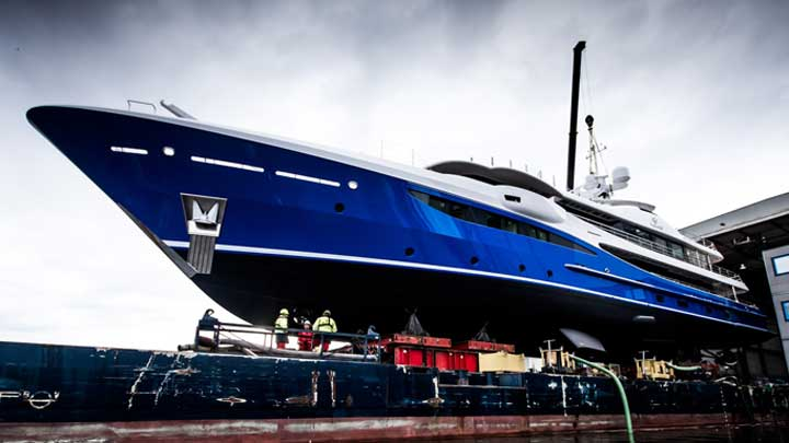the Amels 180 Nomad megayacht launched in April 2019