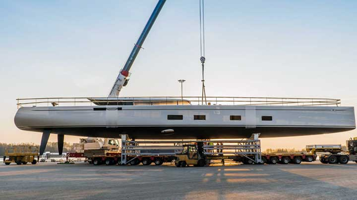 Baltic 142 Custom sailing superyacht Canova