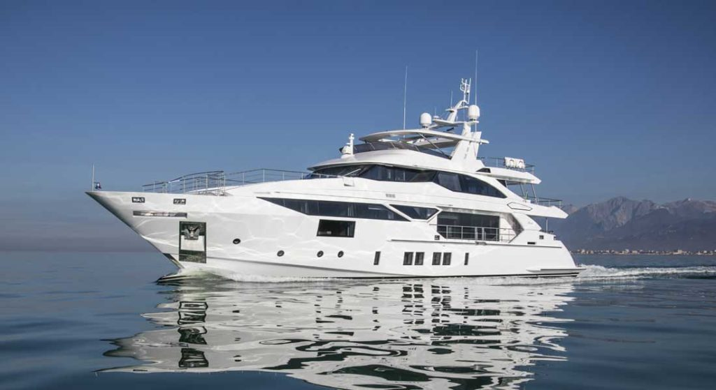 Benetti Fast 125 project BF107 launched the same month as the seventh Benetti Fast 140