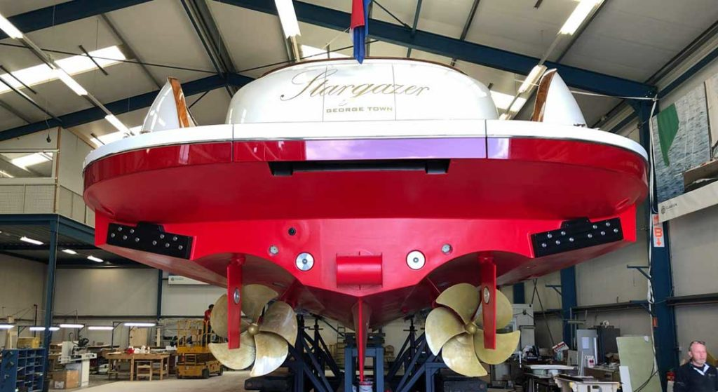 Claasen Shipyards sailing superyacht tender Stargazer in the shed