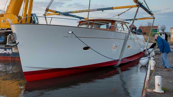 Claasen Shipyards sailing superyacht tender Stargazer in the water