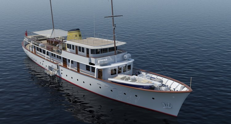 the new design for the Feadship megayacht Istros