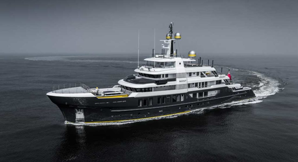 superyacht Scout was delivered by Hakvoort Shipyard