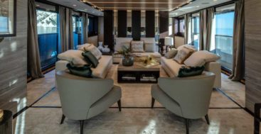 ISA Yachts megayacht Agora III saloon and dining room