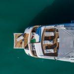 ISA Yachts megayacht Agora III beach club aerial