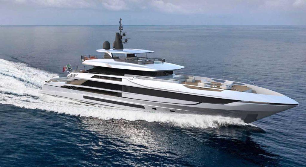 artist's depiction of the Mangusta Oceano 50 megayacht