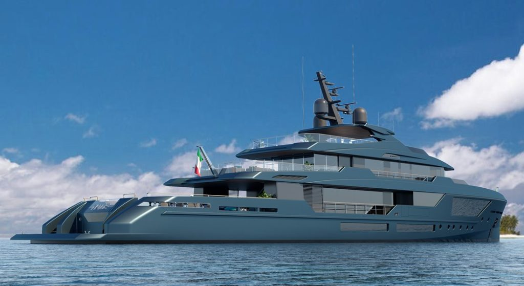 Mondomarine Discovery megayacht series example of Discovery 57 model