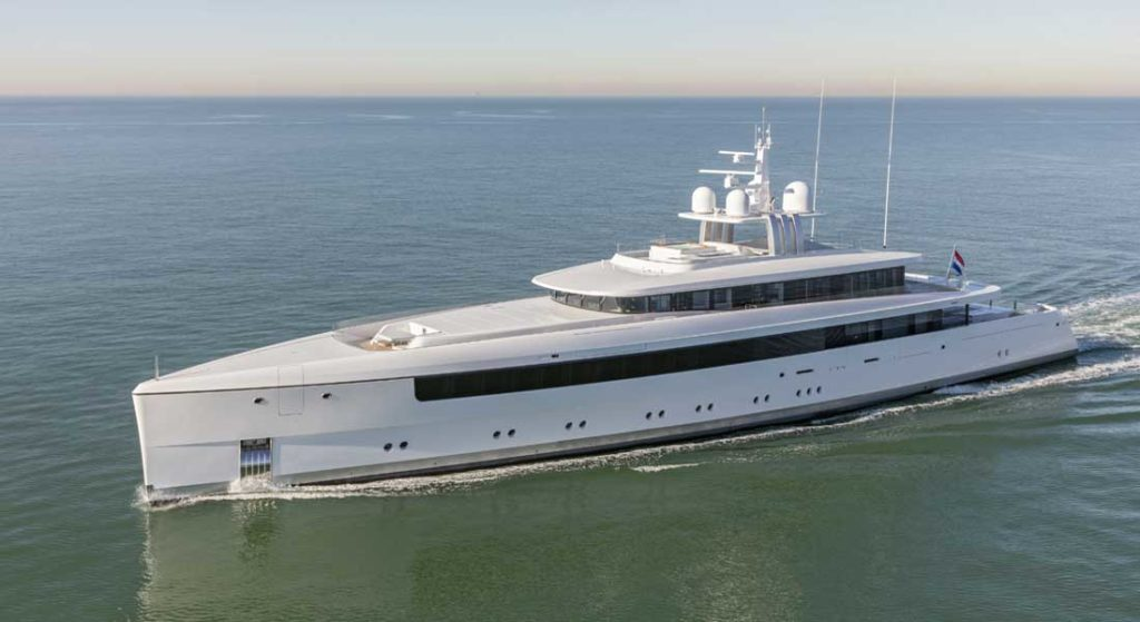the Feadship Najiba is one of the shipyard's most fuel-efficient megayachts to date