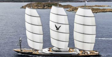 the Perini Navi Maltese Falcon is among the superyachts to see at The Superyacht Show