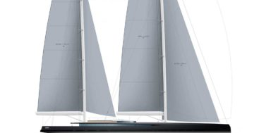 sailplan for Philippe Briand SY300 sailing superyacht concept