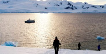 the megayacht Gayle Force cruised to Antarctica