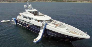 superyacht Sirocco deploys her FunAir slide