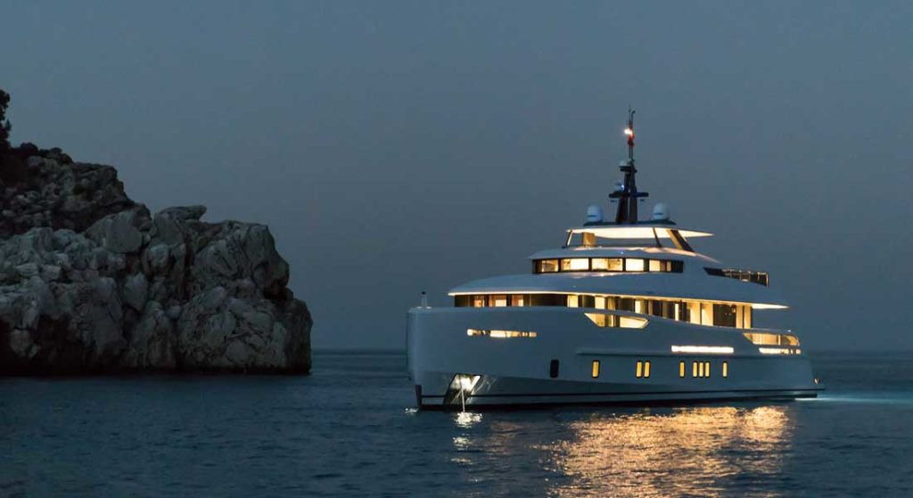 Alia Yachts is building a spec sistership to this yacht, which will be called Nozomi II