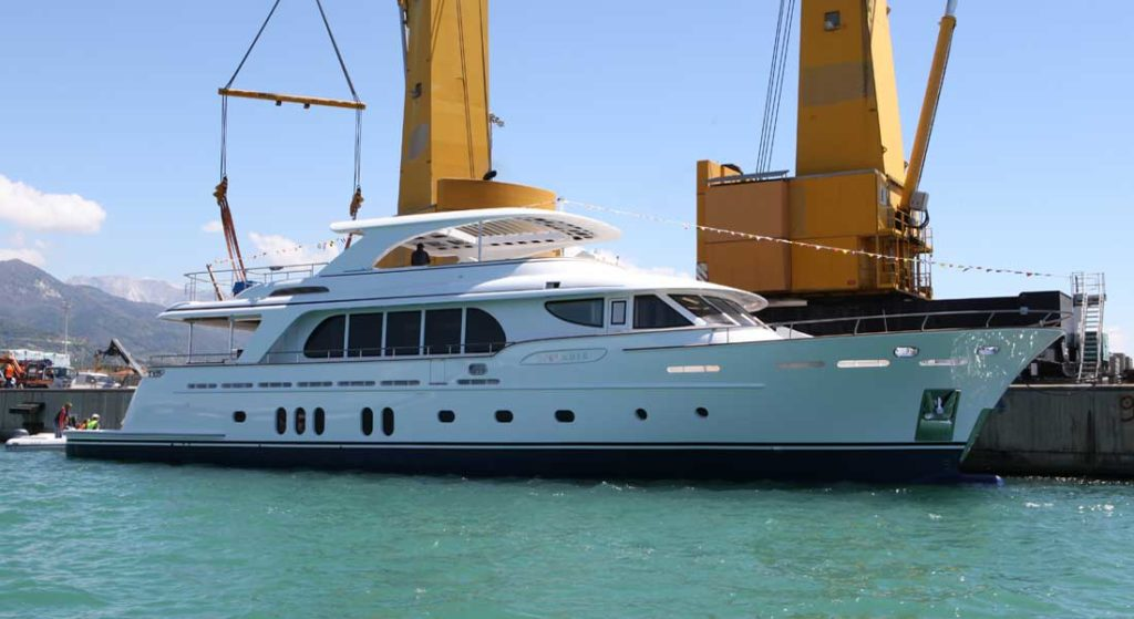 CCN launched the megayacht Vanadis in May 2019
