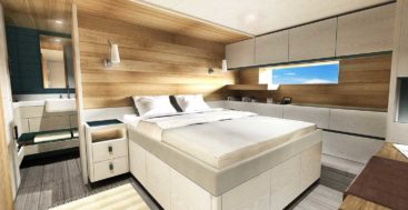 Design Unlimited is using recyled and reclaimed materials for the interior of the Arksen 85 megayacht