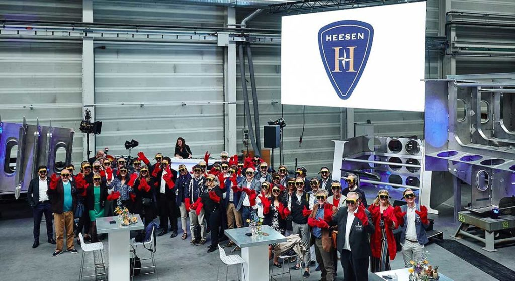 journalists were invited to the keel laying of the megayacht Project Cosmos