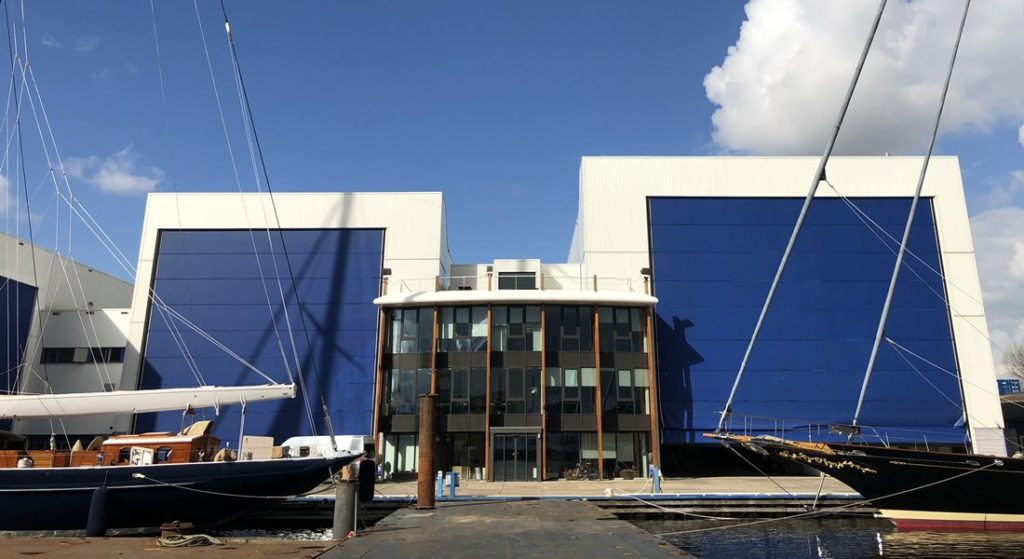 the Port of Amsterdam bought the former Holland Jachtbouw yard for Royal Huisman to use for superyacht new builds and refits