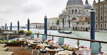 the Riva Lounge in Venice is for yacht and megayacht lovers at the Gritti Palace