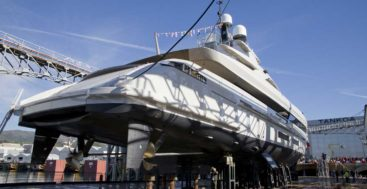 the launch of the Tankoa S501 Hybrid megayacht