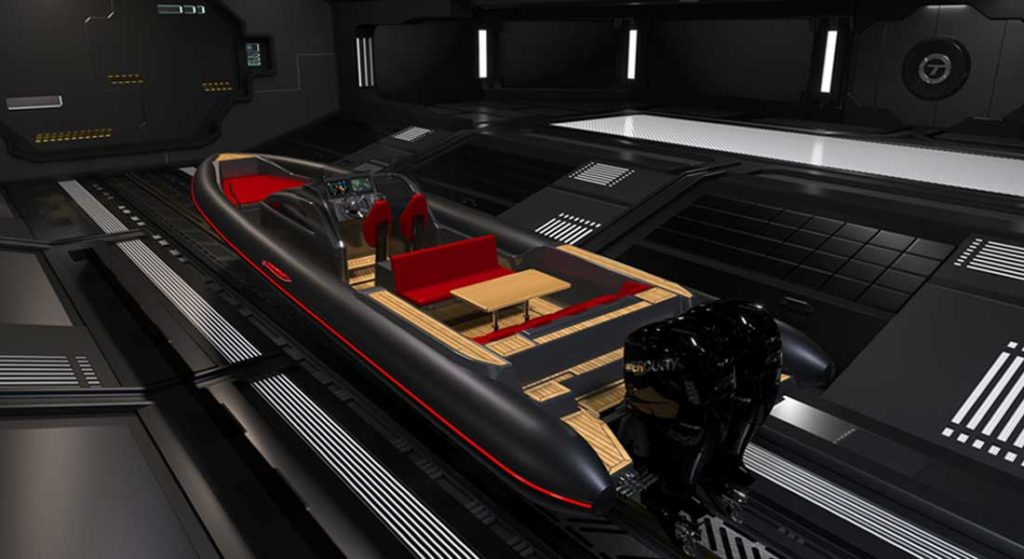 Technohull Explorer 40 RIB is made for megayachts